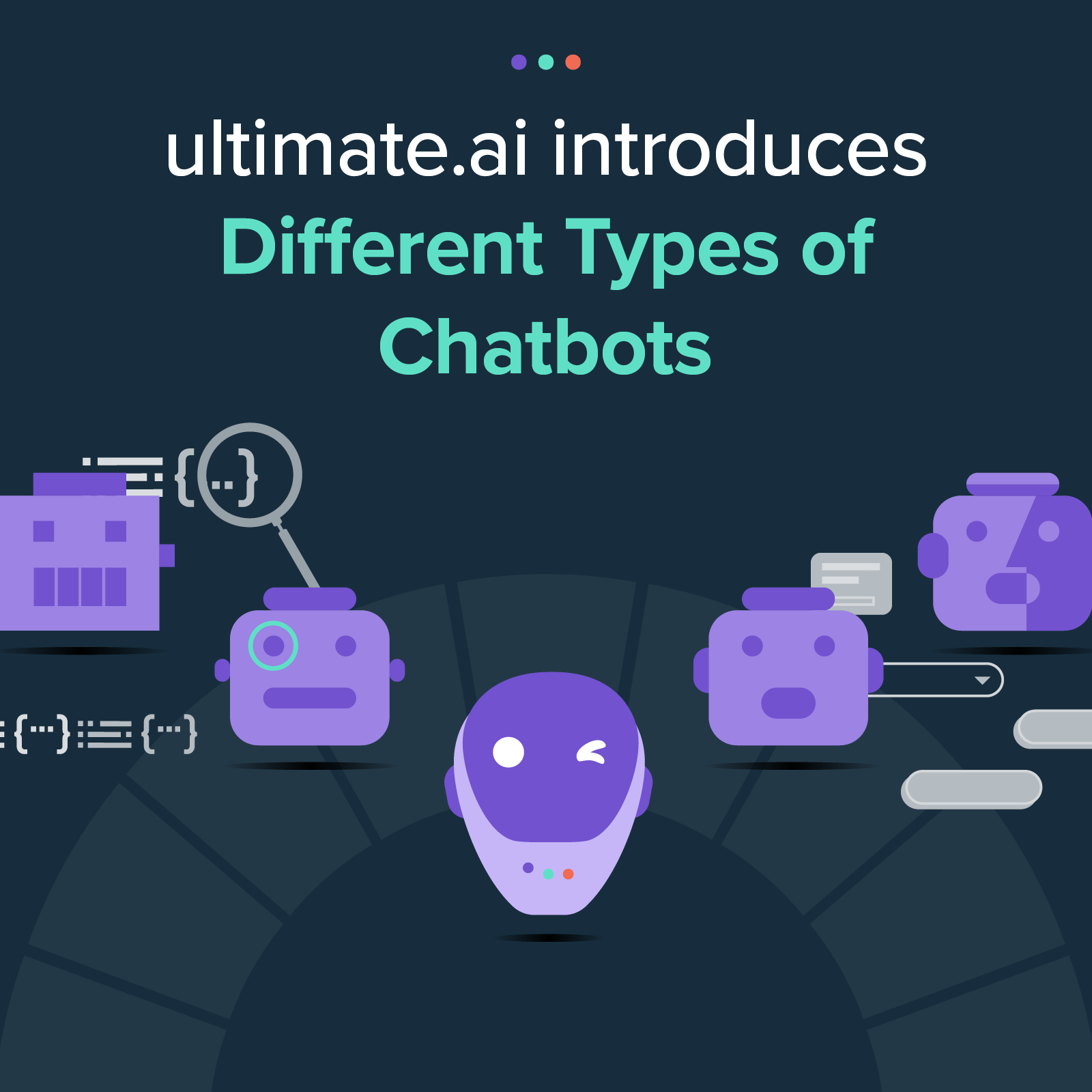 ultimate.ai introduces different types of chatbots
