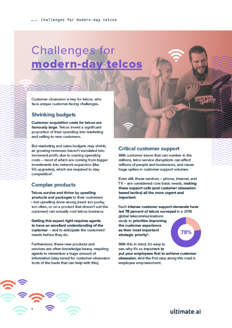 E Book 4 Directors Guide to Customer Obsessed support teams in Telecommunications v34